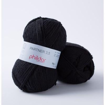 Phildar Phil Partner 3,5 Noir 1200 - 67