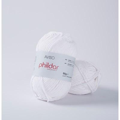 Phildar Aviso Blanc 0010 - 1225 op=op
