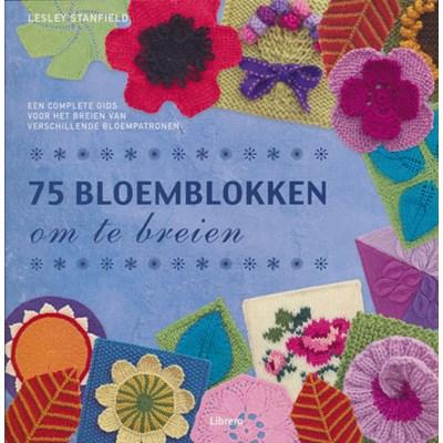 75 bloemblokken om te breien op=op