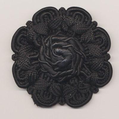 bloem koord 60 mm - zwart 1 stuks op=op