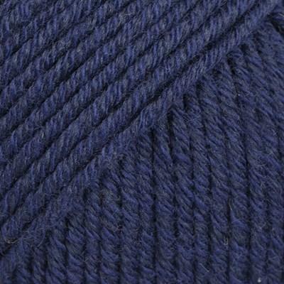 DROPS Cotton merino 08 marine blauw
