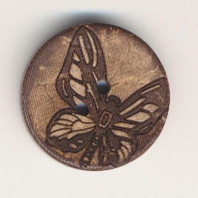 Knoop 34 mm kokos vlinder