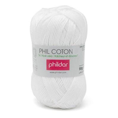 Phildar Phil Coton 4 Blanc 0010 - wit