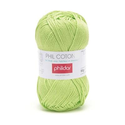 Phildar Phil Coton 4 Pistache 0043 - groen lime op=op uit collectie