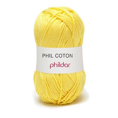 Phildar Phil Coton 4 Citron 0063 - geel fel op=op uit collectie