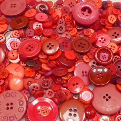 Knoop 11 mm zacht rood