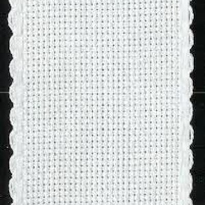 Aida band 5,5 wit hoogte 10 cm per 10 cm