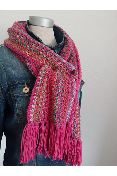 Lang Yarns Leaflet sjaal - tantesetje