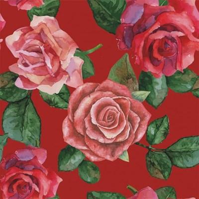 Stenzo tricotstof rozen - rood 50 cm