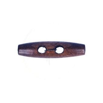 Knoop 15 mm houtje touwtje donker hout