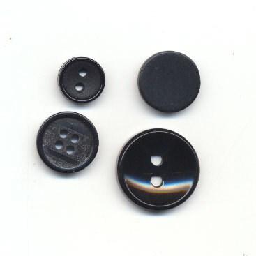 Knoop 15 mm zwart