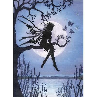 Borduurpakket sprookje - elfje Luna blauw
