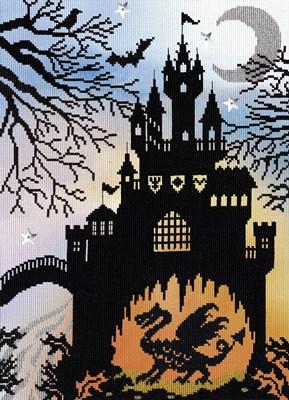Borduurpakket sprookje - Dragon castle