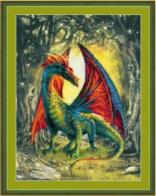 Borduurpakket sprookje - Forest dragon
