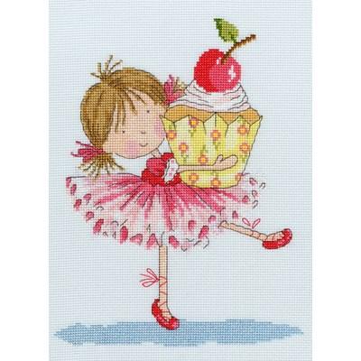 Borduurpakket meisje - cherry on top