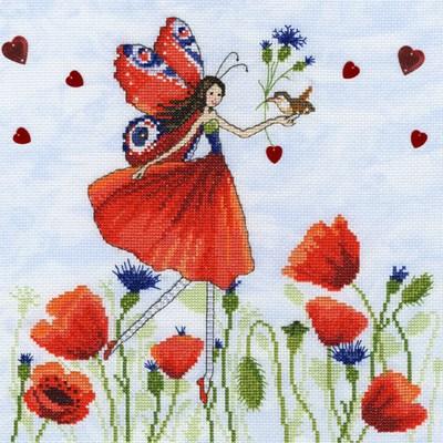 Borduurpakket meisje - summer meadow