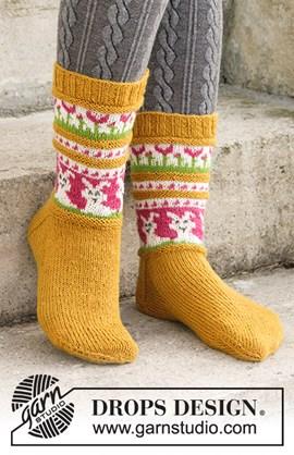 Breipatroon sokken! Kom leuk voor de ....
