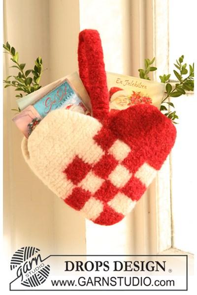 Viltnaald patroon Gevilt hart voor Kerstkaarten
