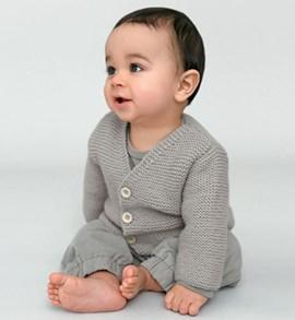 Babyvest in ribbelsteek, eenvoudig te ....