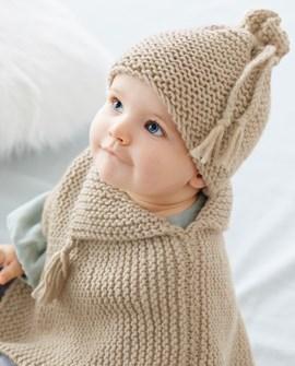 Eenvoudig te breien poncho voor baby op ....